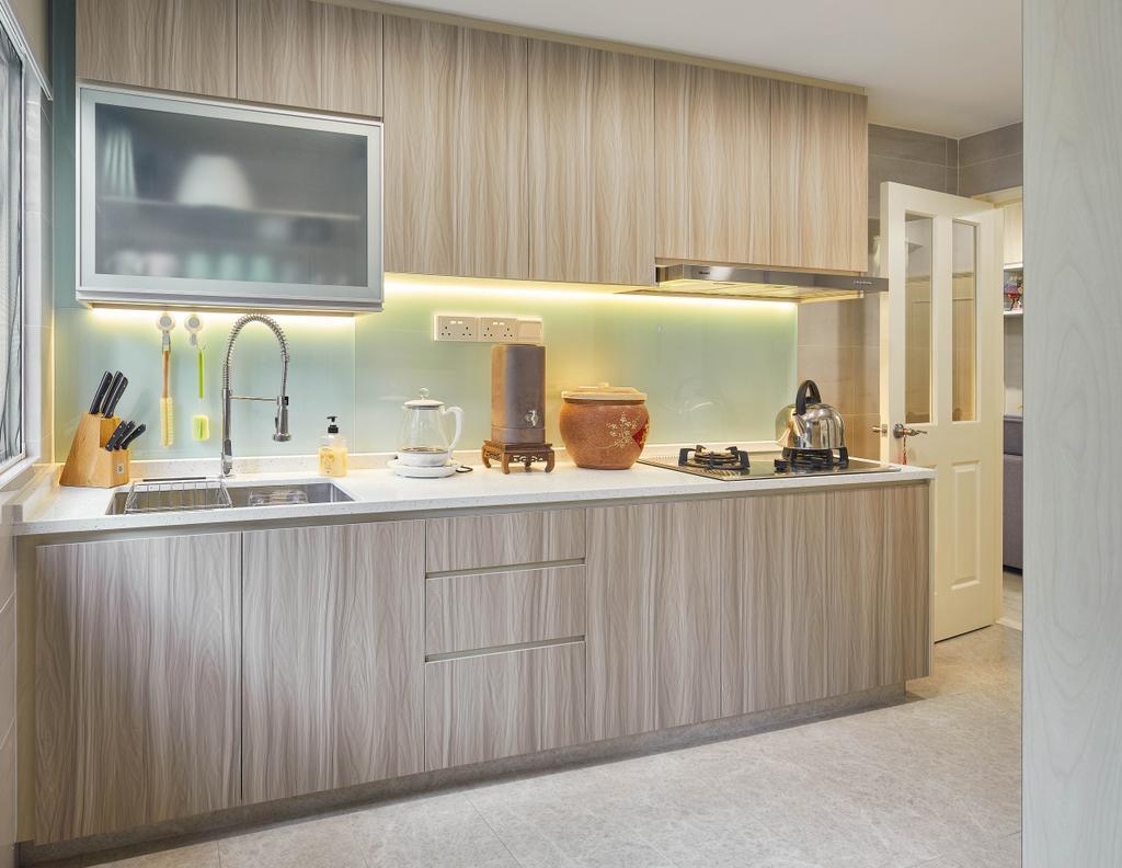Scandinavian, HDB, Kitchen, Holland Road, Interior Designer, Absolook Interior Design