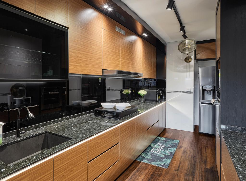 Contemporary, HDB, Kitchen, Telok Blangah Parcview, Interior Designer, Absolook Interior Design