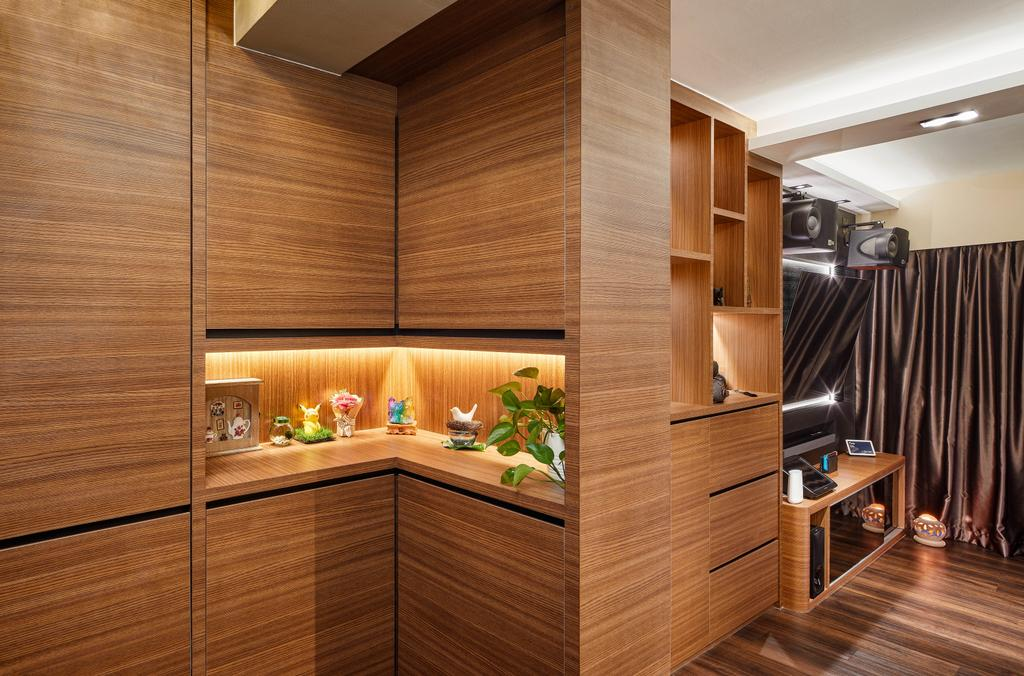 Contemporary, HDB, Living Room, Telok Blangah Parcview, Interior Designer, Absolook Interior Design