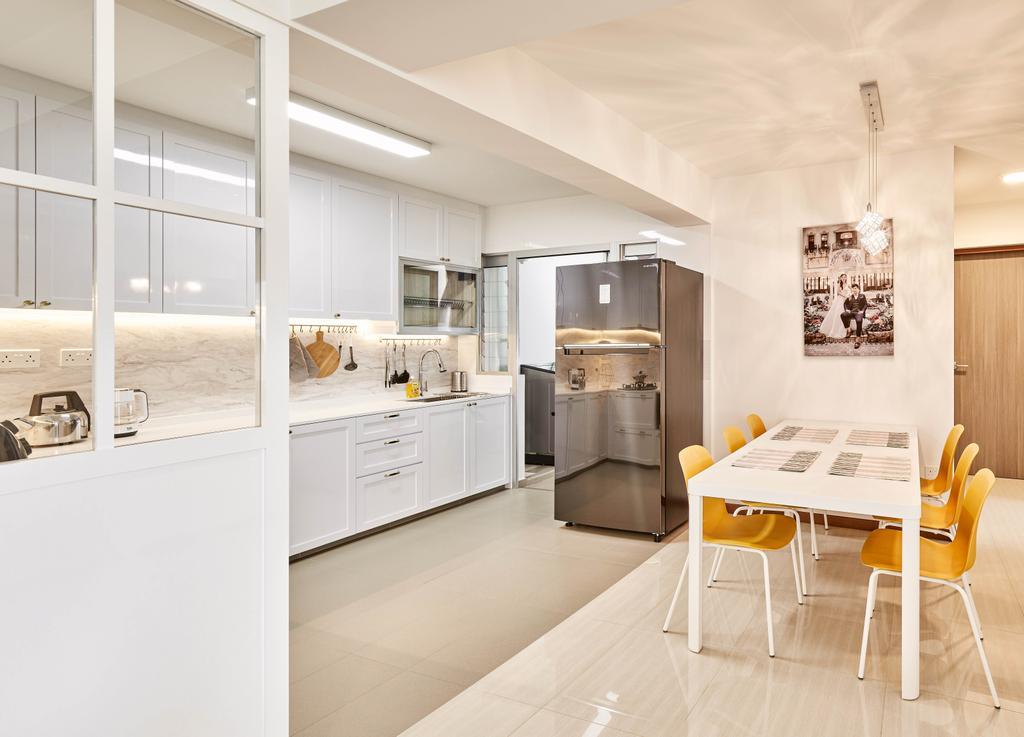 Modern, HDB, Kitchen, Canberra Street, Interior Designer, Absolook Interior Design