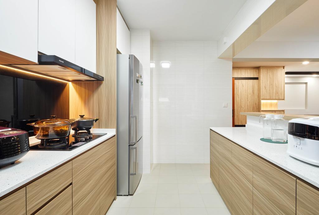 Modern, HDB, Kitchen, Edgedale Plains, Interior Designer, Absolook Interior Design