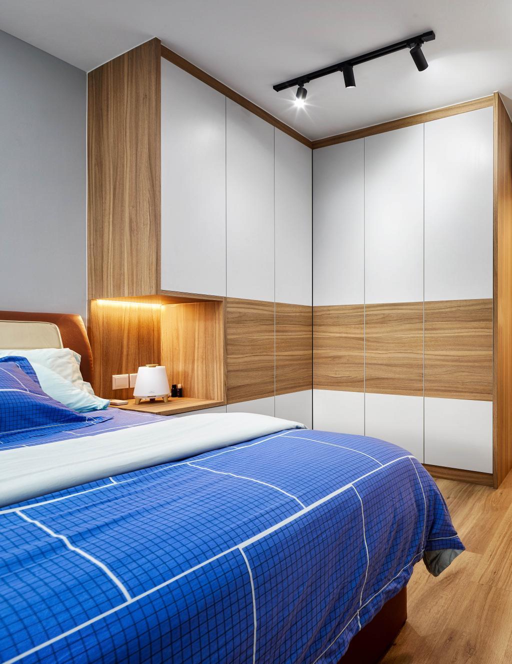 Modern, HDB, Bedroom, Edgedale Plains, Interior Designer, Absolook Interior Design