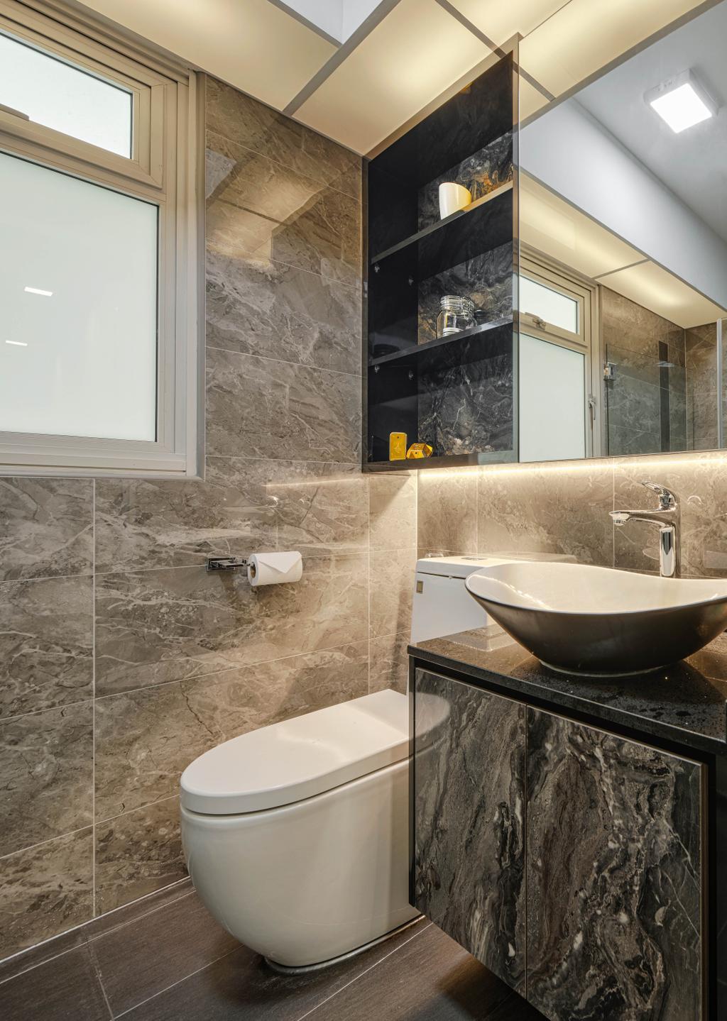 Modern, HDB, Bathroom, Sumang Walk, Interior Designer, Absolook Interior Design, Contemporary