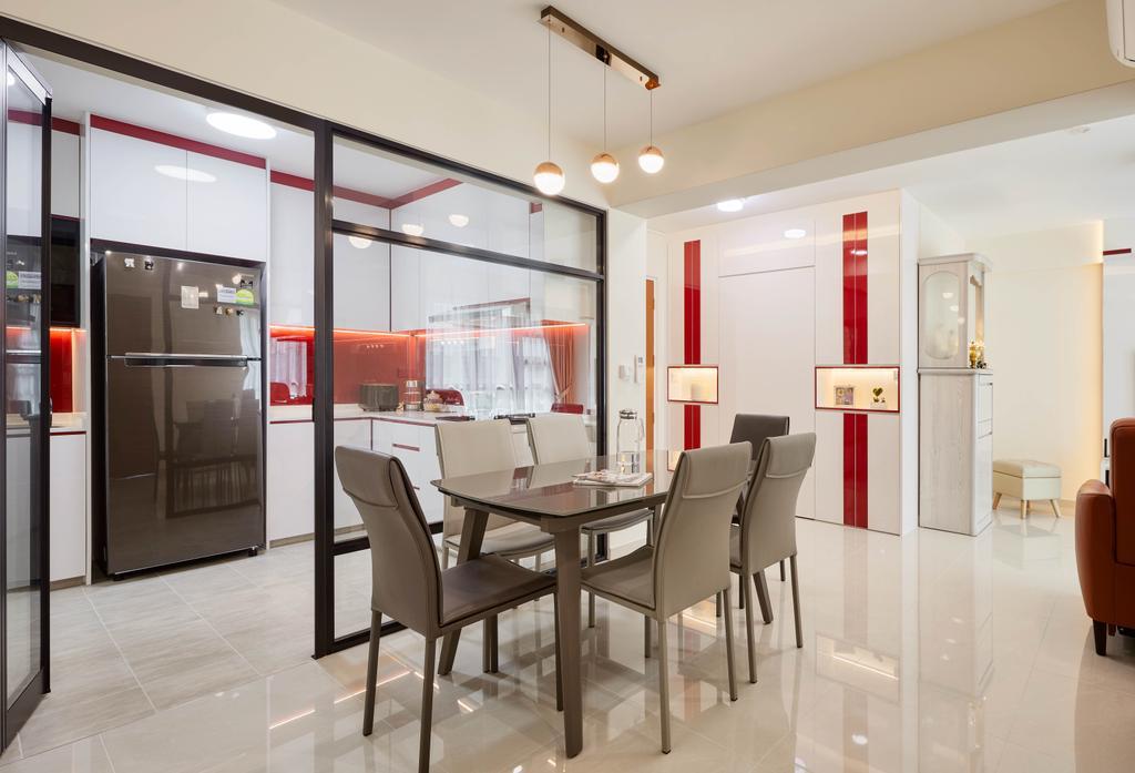 Modern, HDB, Dining Room, Yishun Avenue 6, Interior Designer, Absolook Interior Design