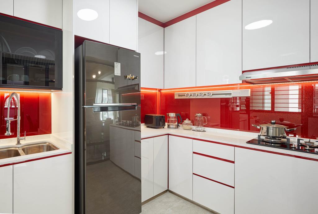 Modern, HDB, Kitchen, Yishun Avenue 6, Interior Designer, Absolook Interior Design