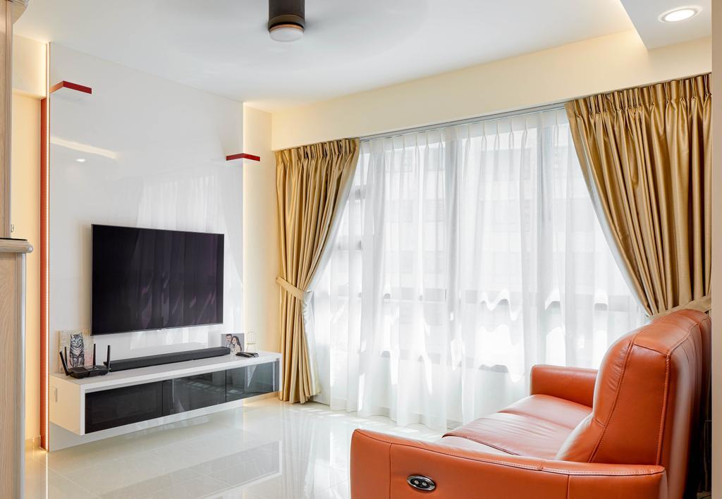 Modern, HDB, Living Room, Yishun Avenue 6, Interior Designer, Absolook Interior Design