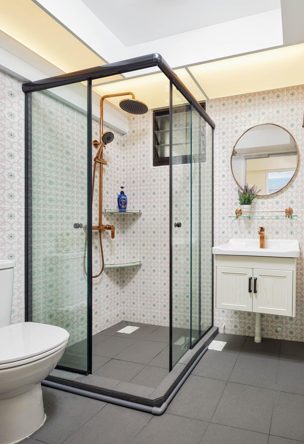 Modern, HDB, Bathroom, Yishun Avenue 6, Interior Designer, Absolook Interior Design