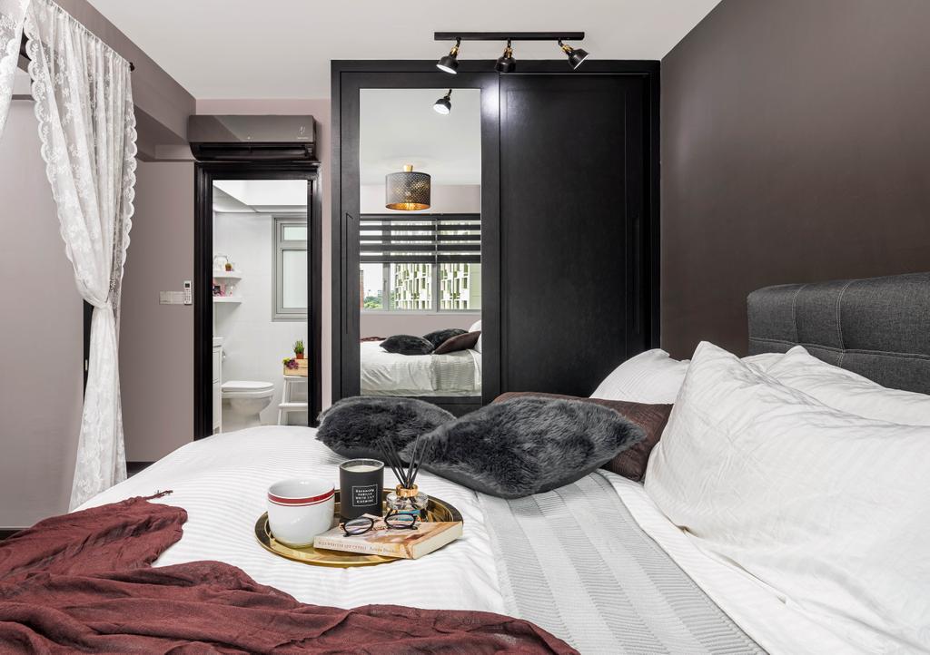 Modern, HDB, Bedroom, Yishun Street 43, Interior Designer, Absolook Interior Design, Contemporary