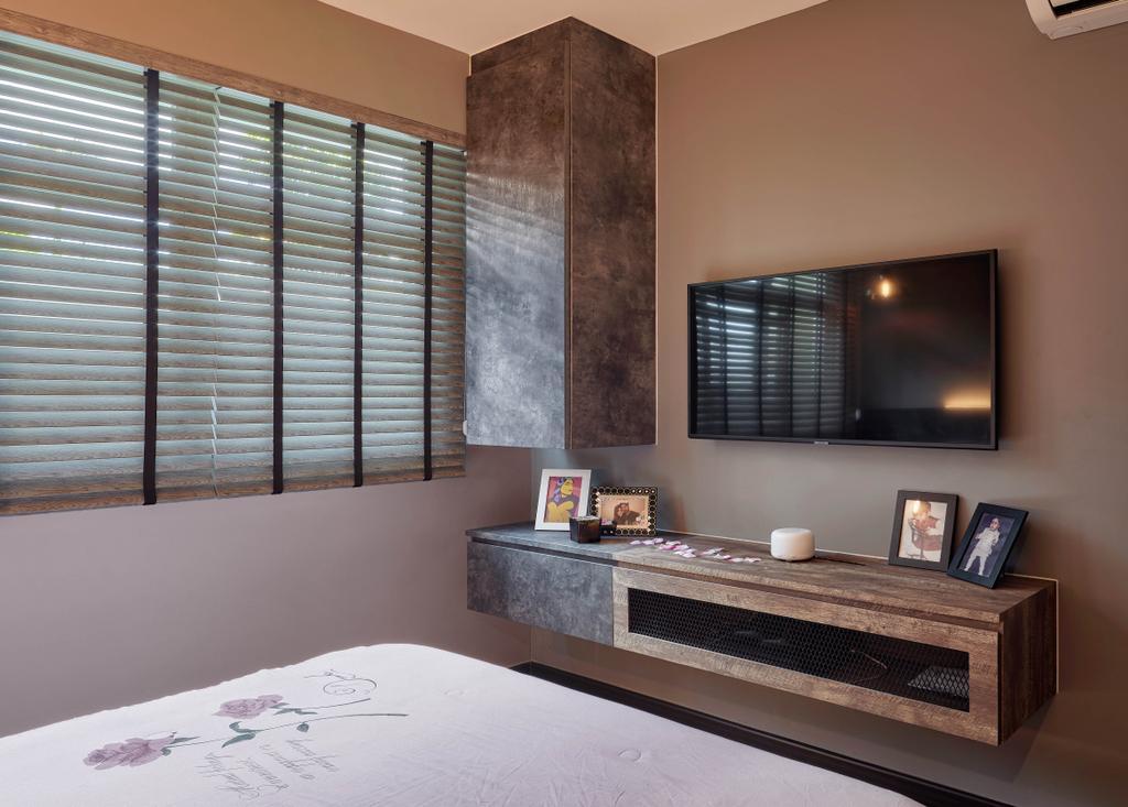 Contemporary, HDB, Bedroom, Yishun Street 51, Interior Designer, Absolook Interior Design