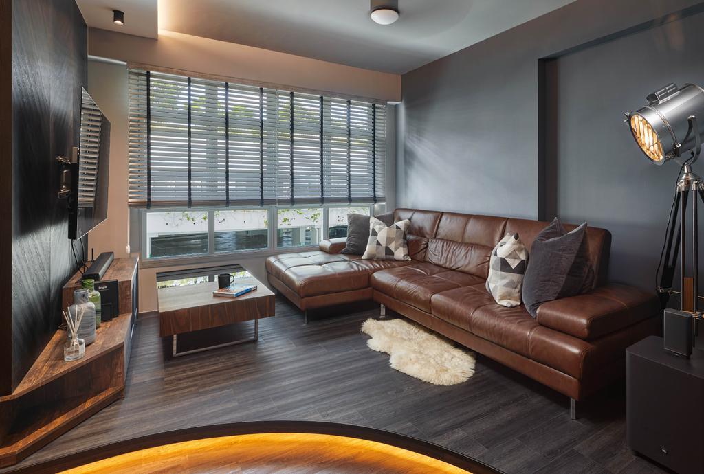 Contemporary, HDB, Living Room, Yishun Street 51, Interior Designer, Absolook Interior Design