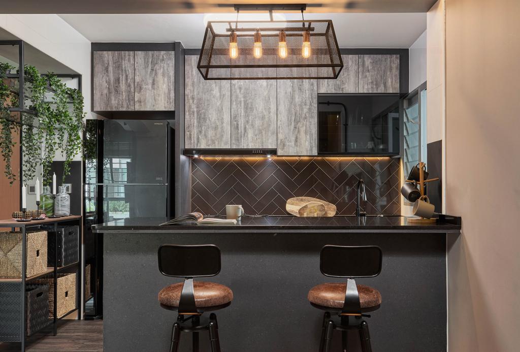 Contemporary, HDB, Kitchen, Yishun Street 51, Interior Designer, Absolook Interior Design