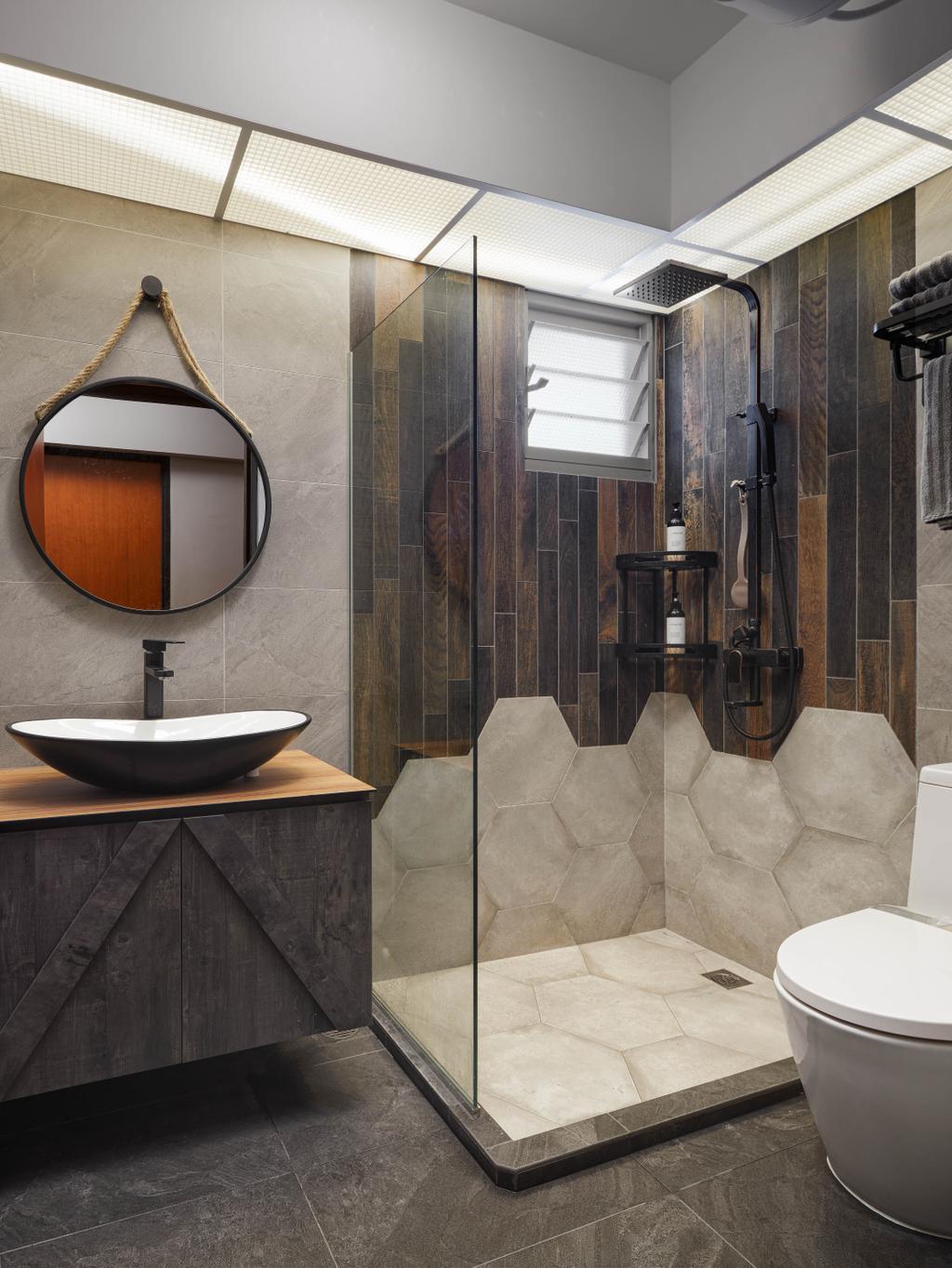 Contemporary, HDB, Bathroom, Yishun Street 51, Interior Designer, Absolook Interior Design