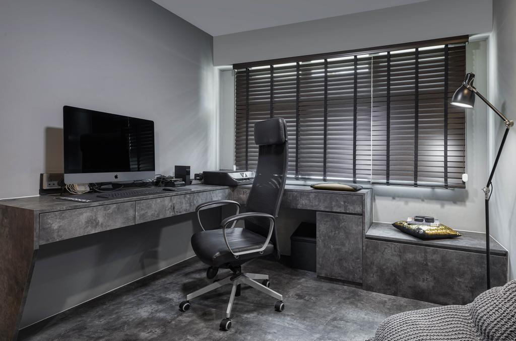 Contemporary, HDB, Study, Yishun Street 51, Interior Designer, Absolook Interior Design