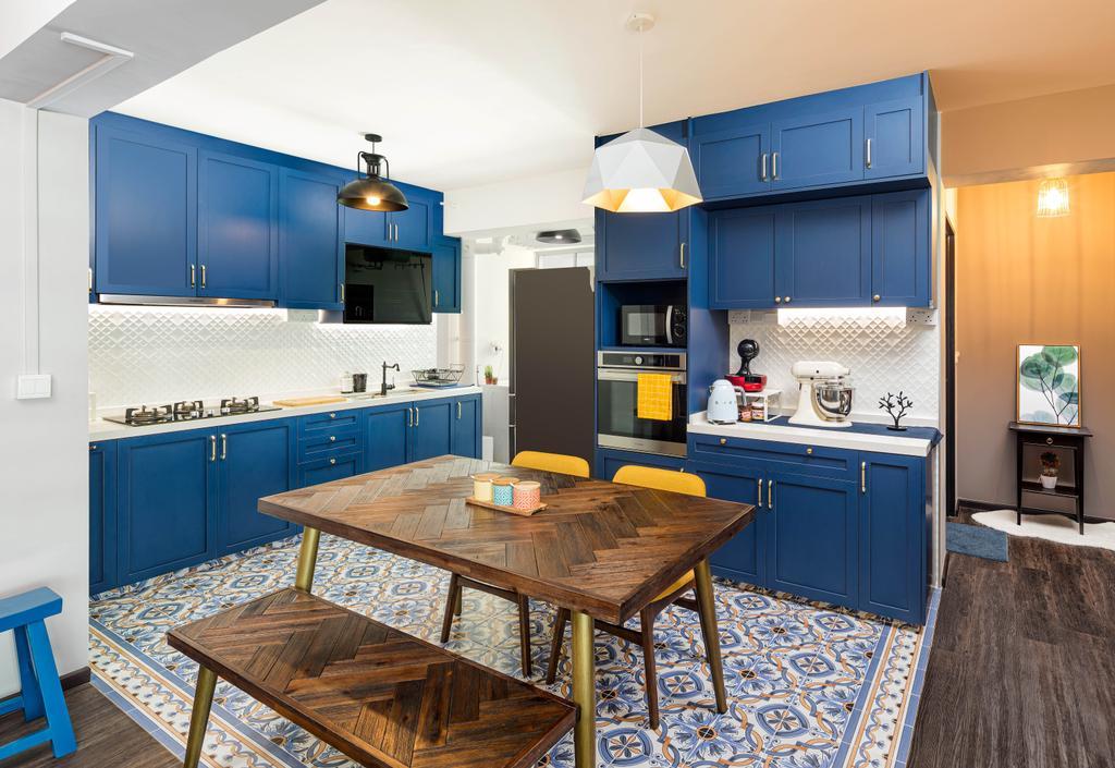 Modern, HDB, Kitchen, Yishun Street 43, Interior Designer, Absolook Interior Design, Contemporary