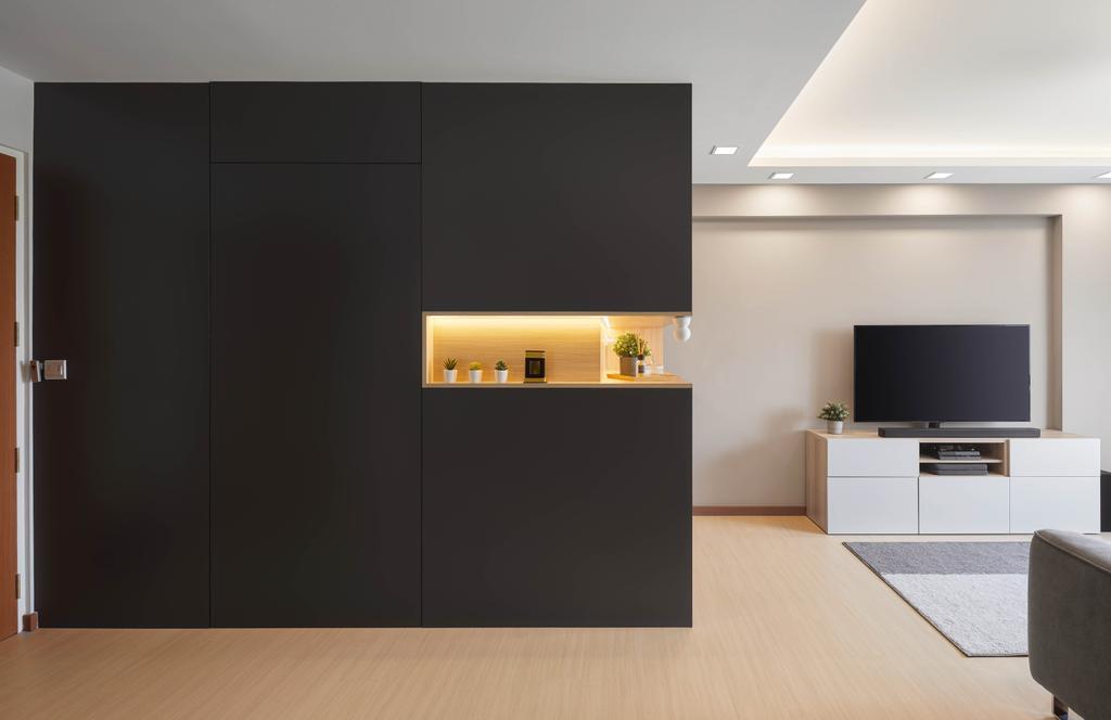 Contemporary, HDB, Living Room, Tampines North Drive 1, Interior Designer, Absolook Interior Design, Scandinavian