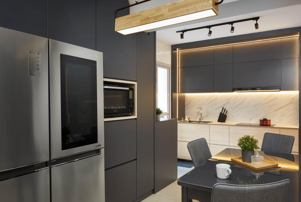 Contemporary, HDB, Kitchen, Tampines North Drive 1, Interior Designer, Absolook Interior Design, Scandinavian