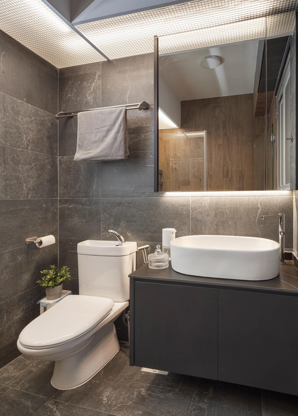 Contemporary, HDB, Bathroom, Tampines North Drive 1, Interior Designer, Absolook Interior Design, Scandinavian
