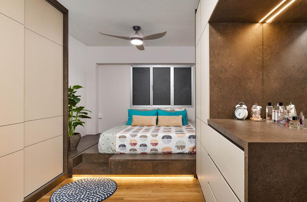 Contemporary, HDB, Bedroom, Woodlands Drive 62, Interior Designer, Absolook Interior Design