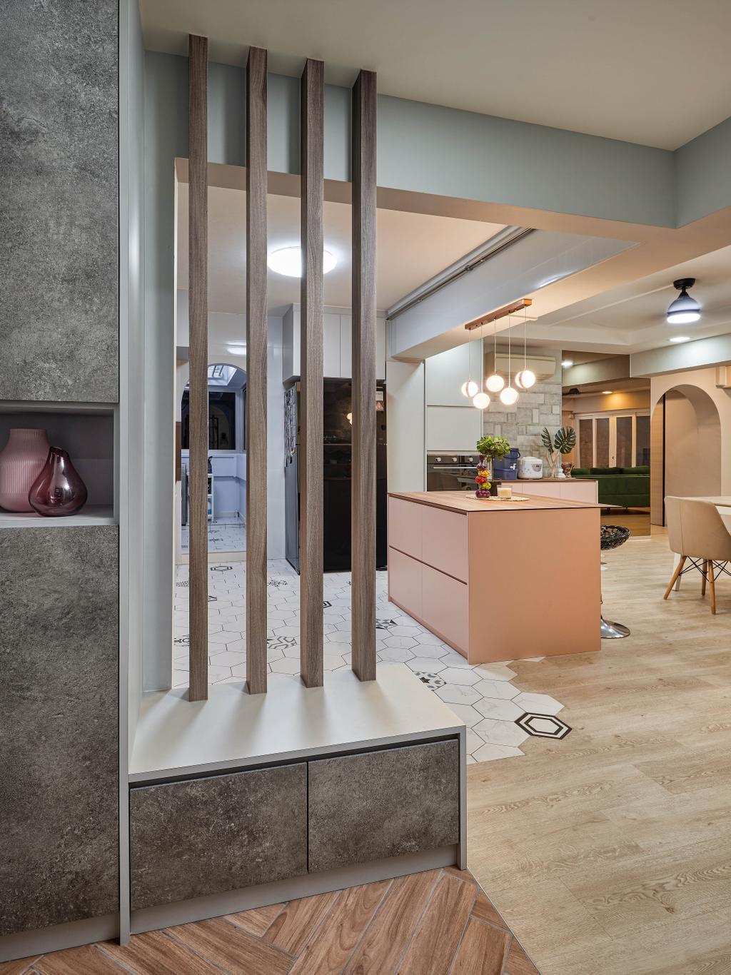 Contemporary, HDB, Living Room, Woodlands Drive 62, Interior Designer, Absolook Interior Design