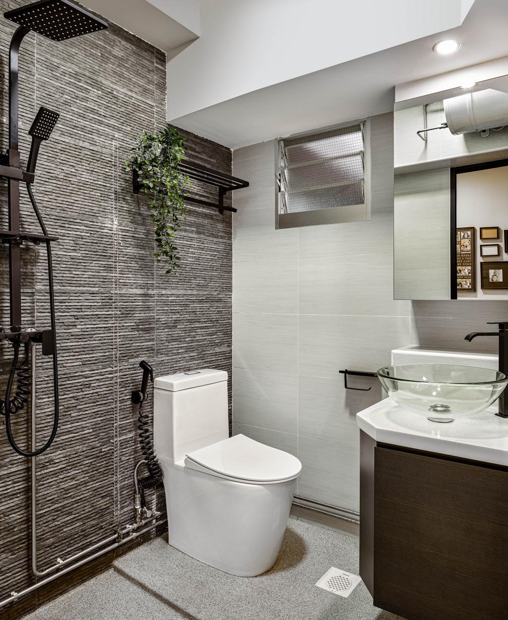Contemporary, HDB, Bathroom, Woodlands Drive 62, Interior Designer, Absolook Interior Design