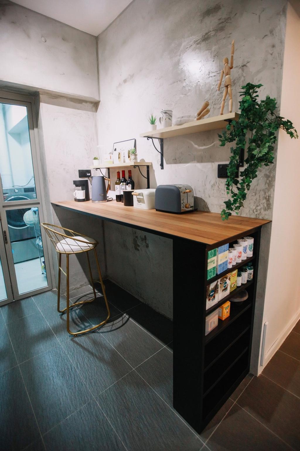 Modern, HDB, Kitchen, Punggol Place, Interior Designer, The Wooden Platform, Scandinavian