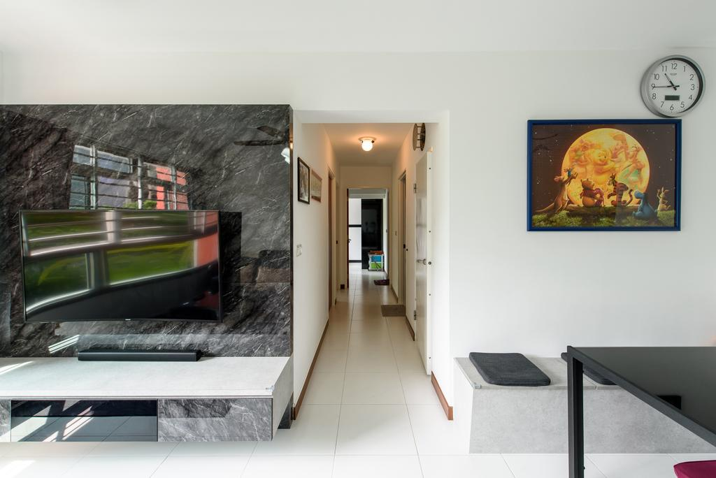 Modern, HDB, Living Room, Punggol Central, Interior Designer, NJ Concept