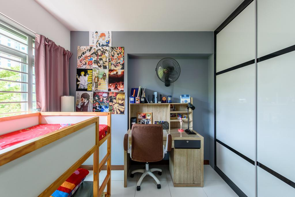 Modern, HDB, Bedroom, Punggol Central, Interior Designer, NJ Concept