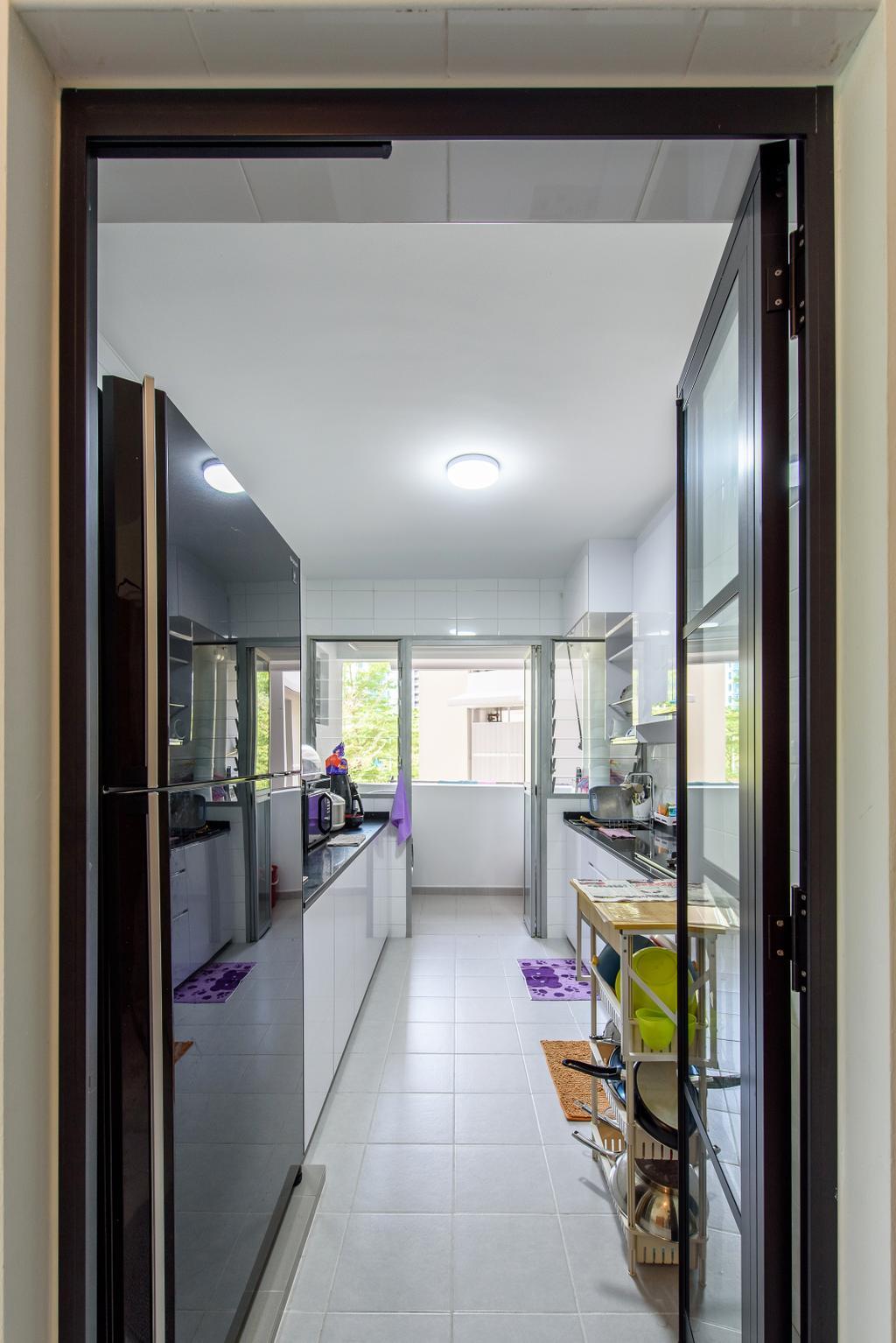 Modern, HDB, Kitchen, Punggol Central, Interior Designer, NJ Concept