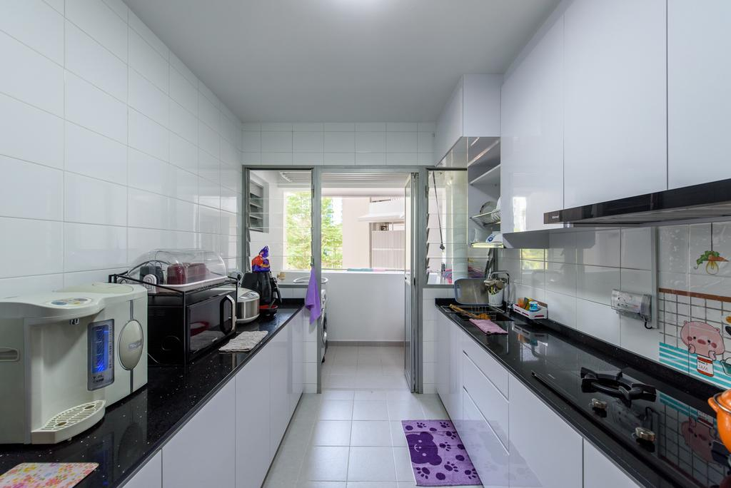 Modern, HDB, Kitchen, Punggol Central, Interior Designer, NJ Concept