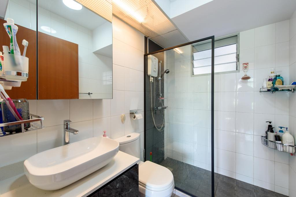 Modern, HDB, Bathroom, Punggol Central, Interior Designer, NJ Concept