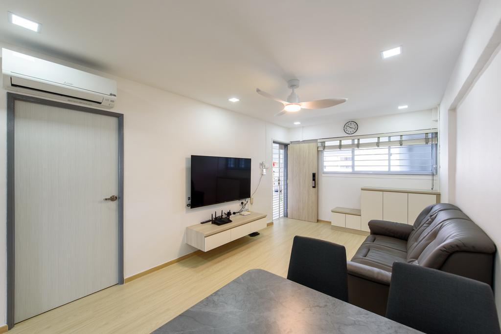 Scandinavian, HDB, Living Room, Jurong East Street 32, Interior Designer, NJ Concept