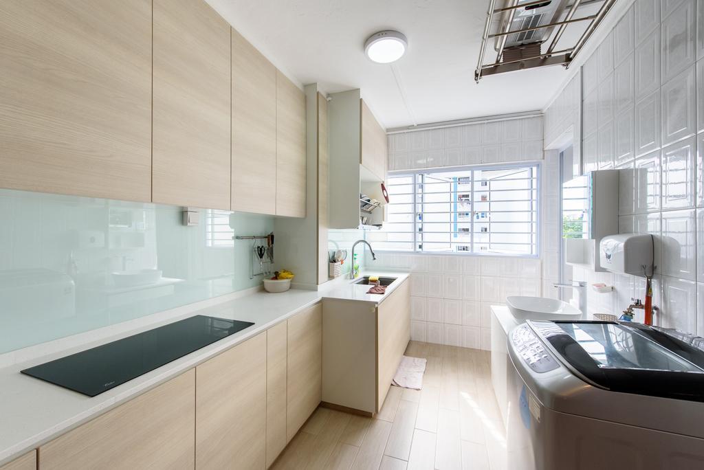 Scandinavian, HDB, Kitchen, Jurong East Street 32, Interior Designer, NJ Concept
