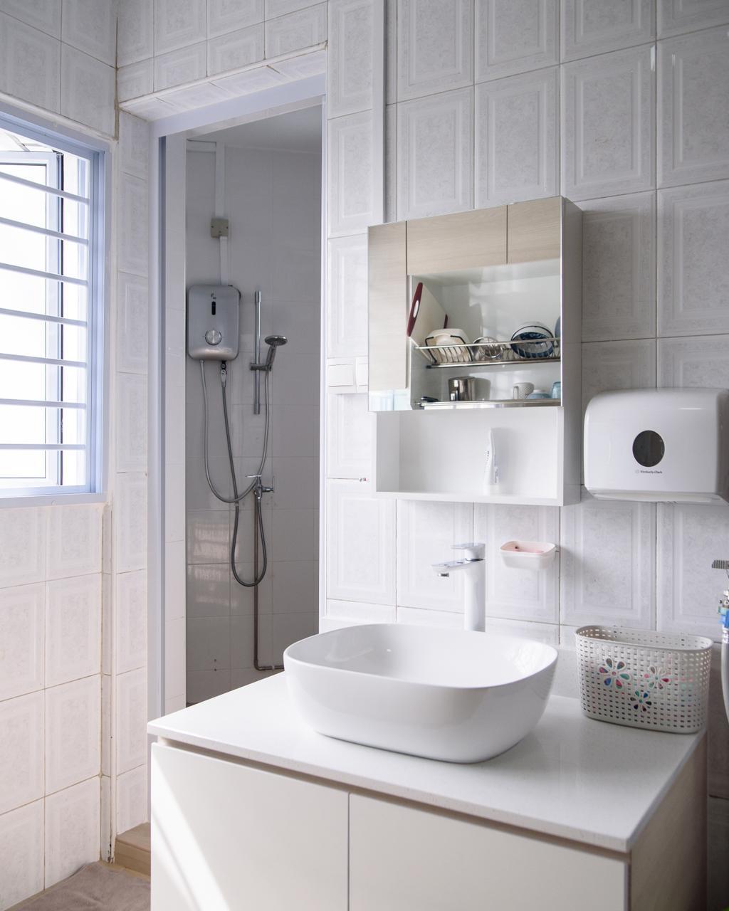 Scandinavian, HDB, Bathroom, Jurong East Street 32, Interior Designer, NJ Concept