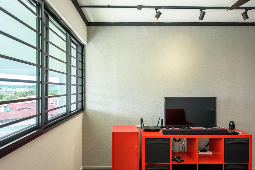 Industrial, HDB, Living Room, Yishun Ring Road, Interior Designer, NJ Concept, Contemporary