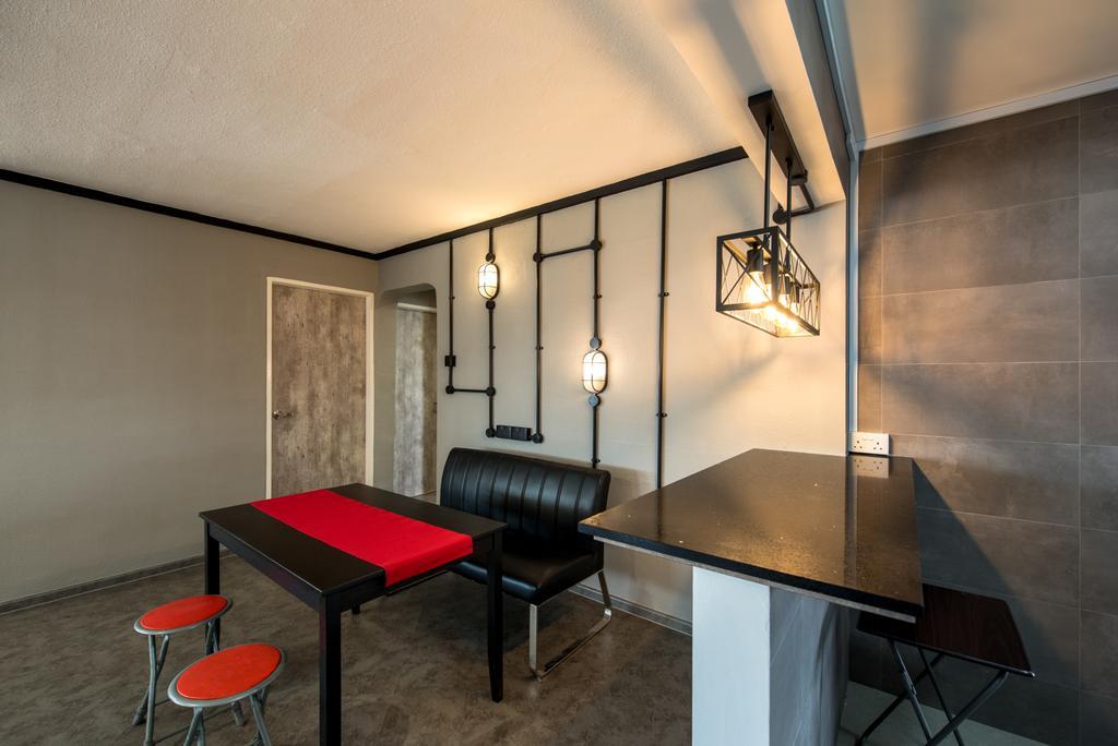 Industrial, HDB, Dining Room, Yishun Ring Road, Interior Designer, NJ Concept, Contemporary