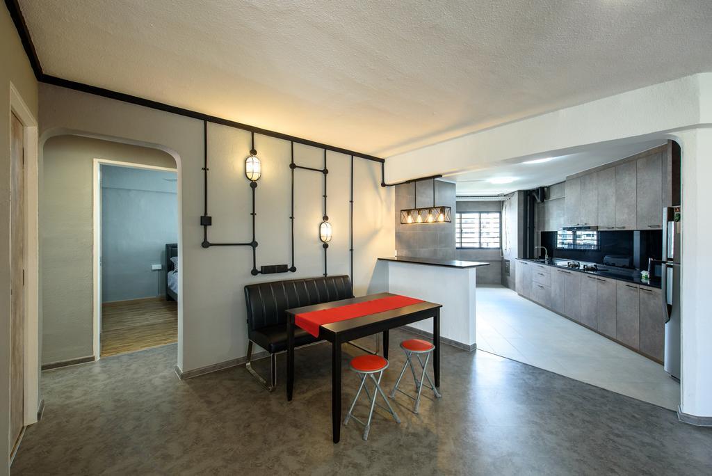 Industrial, HDB, Yishun Ring Road, Interior Designer, NJ Concept, Contemporary