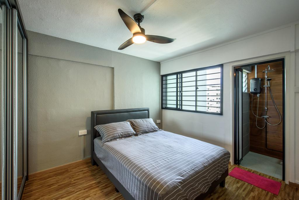 Industrial, HDB, Bedroom, Yishun Ring Road, Interior Designer, NJ Concept, Contemporary