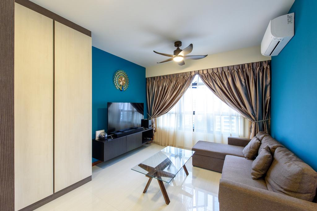 Contemporary, HDB, Living Room, Canberra Crescent, Interior Designer, NJ Concept