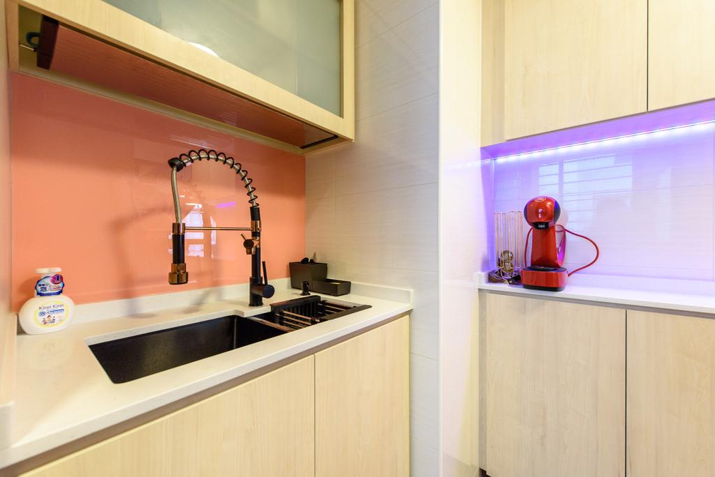 Contemporary, HDB, Kitchen, Canberra Crescent, Interior Designer, NJ Concept