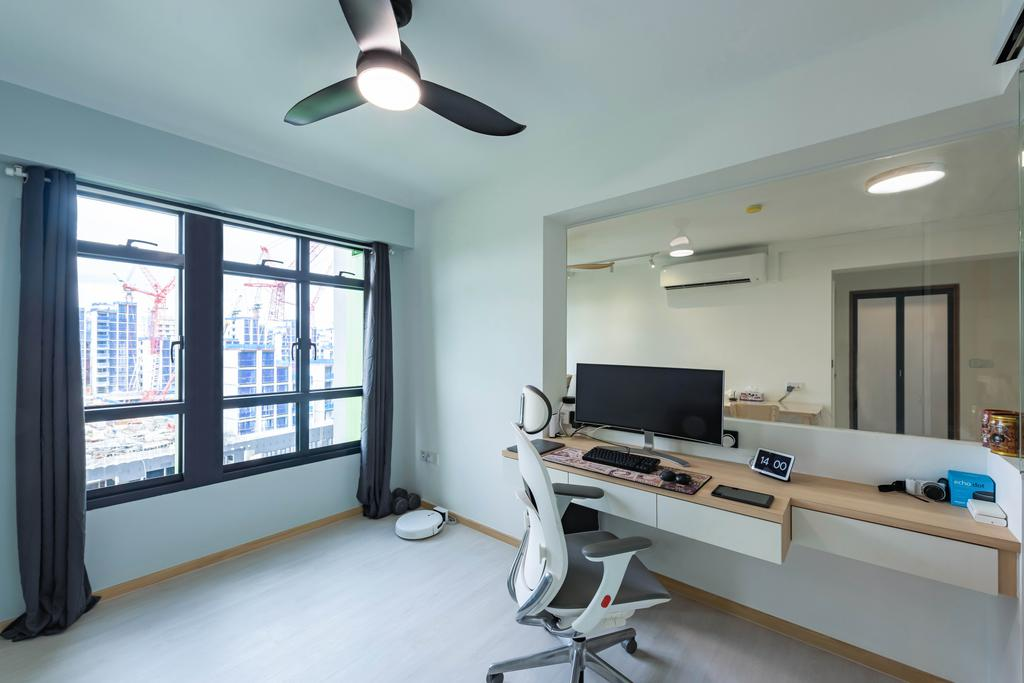 Modern, HDB, Study, Bidadari Park Drive, Interior Designer, NJ Concept, Scandinavian