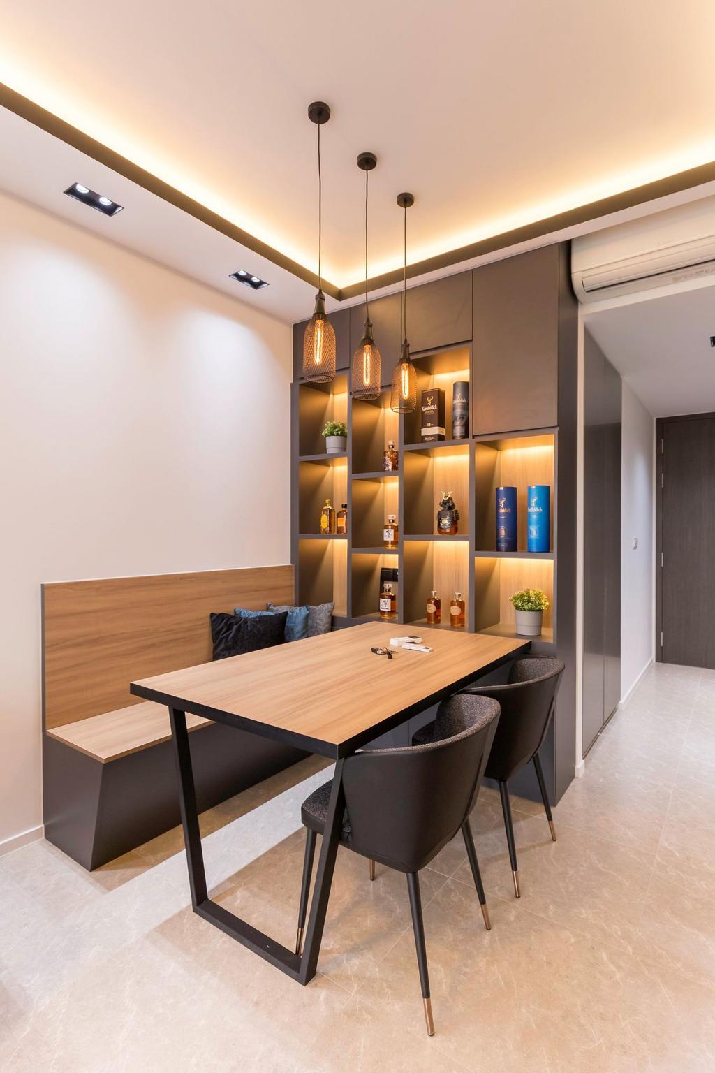 Modern, Condo, Dining Room, The Clement Canopy, Interior Designer, Carpenter Direct, Contemporary