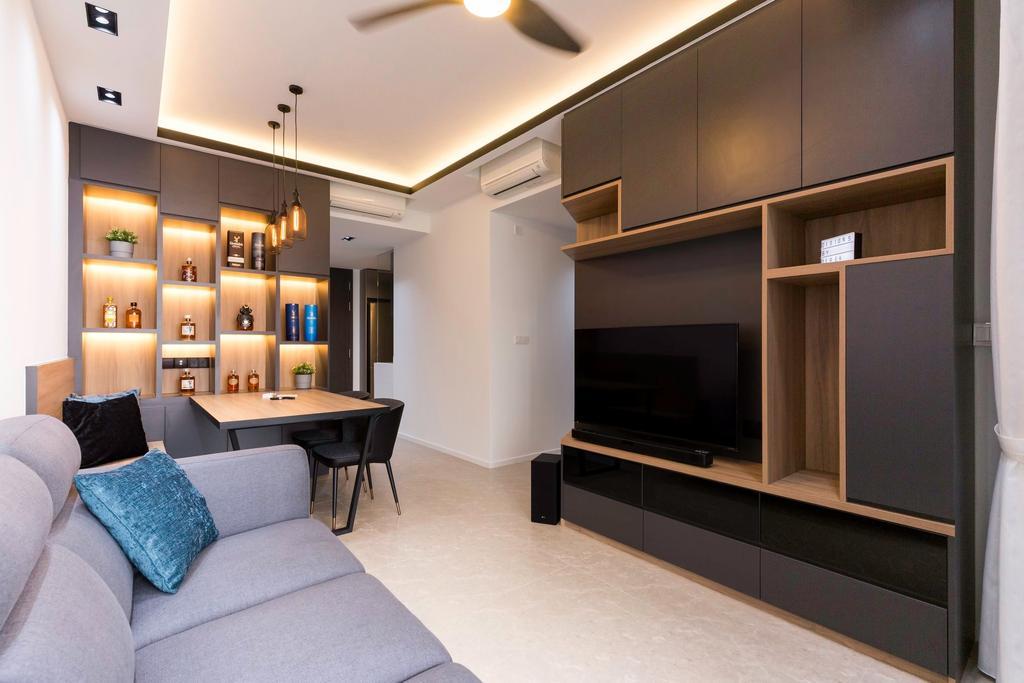 Modern, Condo, Living Room, The Clement Canopy, Interior Designer, Carpenter Direct, Contemporary