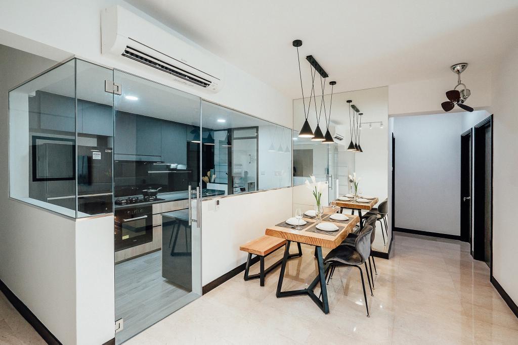 Contemporary, Condo, Dining Room, The Bencoolen, Interior Designer, Carpenter Direct