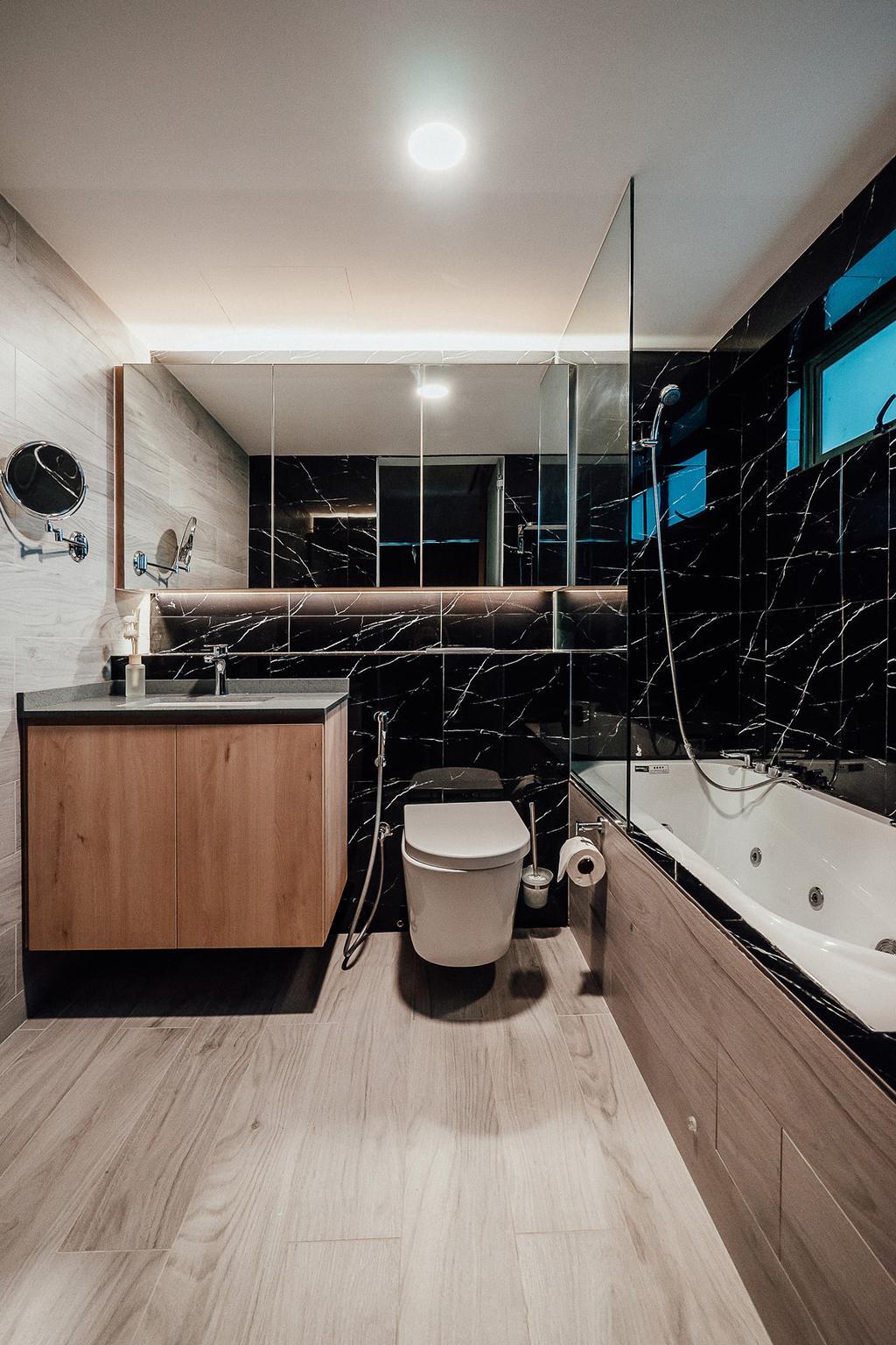 Contemporary, Condo, Bathroom, The Bencoolen, Interior Designer, Carpenter Direct