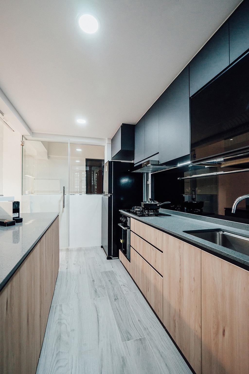 Contemporary, Condo, Kitchen, The Bencoolen, Interior Designer, Carpenter Direct