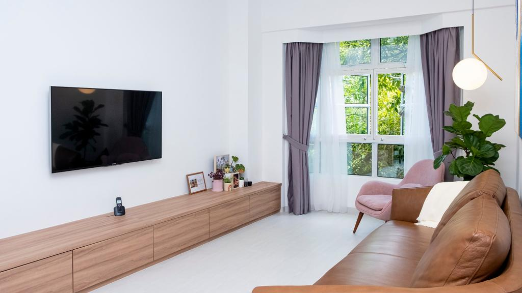 Contemporary, Condo, Living Room, King Albert Lodge, Interior Designer, Carpenter Direct