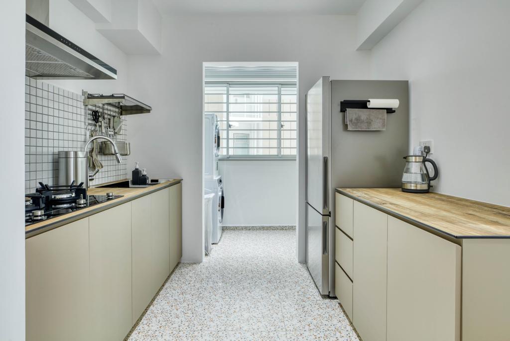 Modern, HDB, Kitchen, Bedok North Street 4, Interior Designer, Carpenter Direct, Minimalistic
