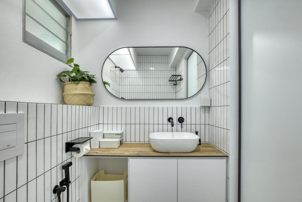 Modern, HDB, Bathroom, Bedok North Street 4, Interior Designer, Carpenter Direct, Minimalistic