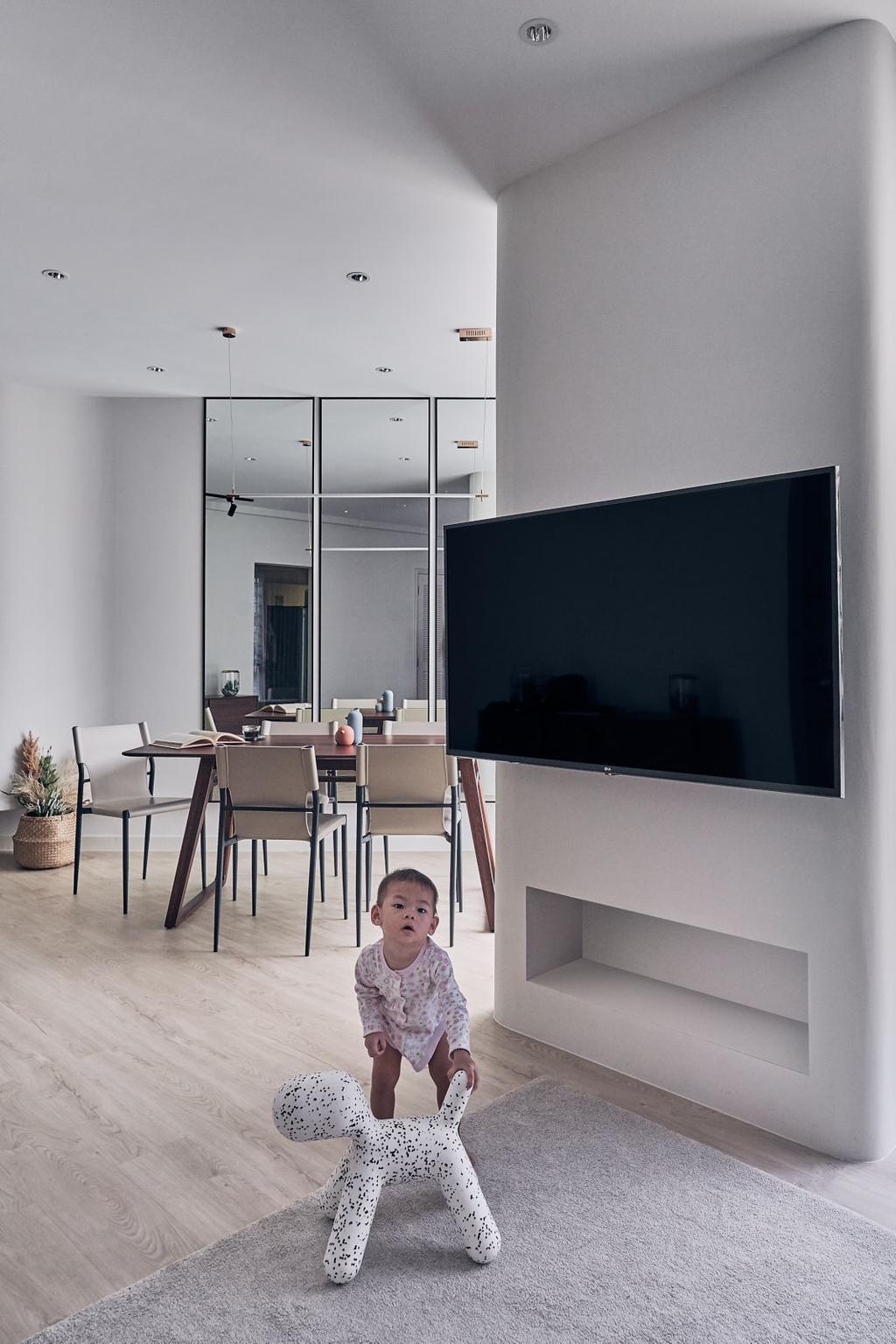 Modern, Condo, Living Room, Regentville, Interior Designer, Happe Design Atelier, Scandinavian
