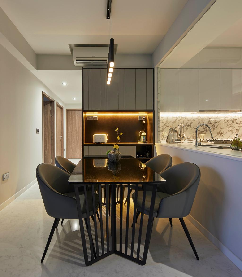 Contemporary, Condo, Dining Room, Queens Peak, Interior Designer, The Interior Lab, Scandinavian